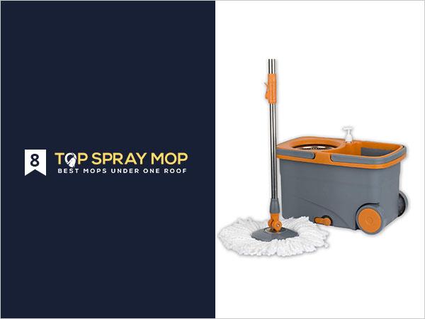 Casabella GraphiteOrange Spin Cycle Mop