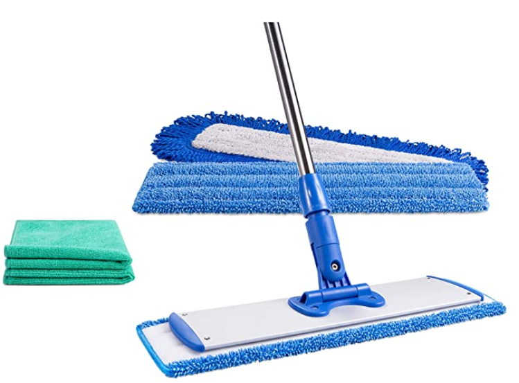 18 Professional Microfiber Mop Adjustable Stainless Steel Handle