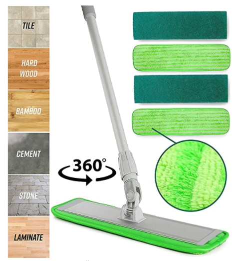 Microfiber Mop Floor Cleaning System