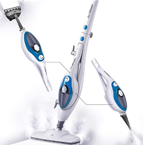 Steam Mop Cleaner 10-in-1 with Convenient Detachable Handheld Unit,