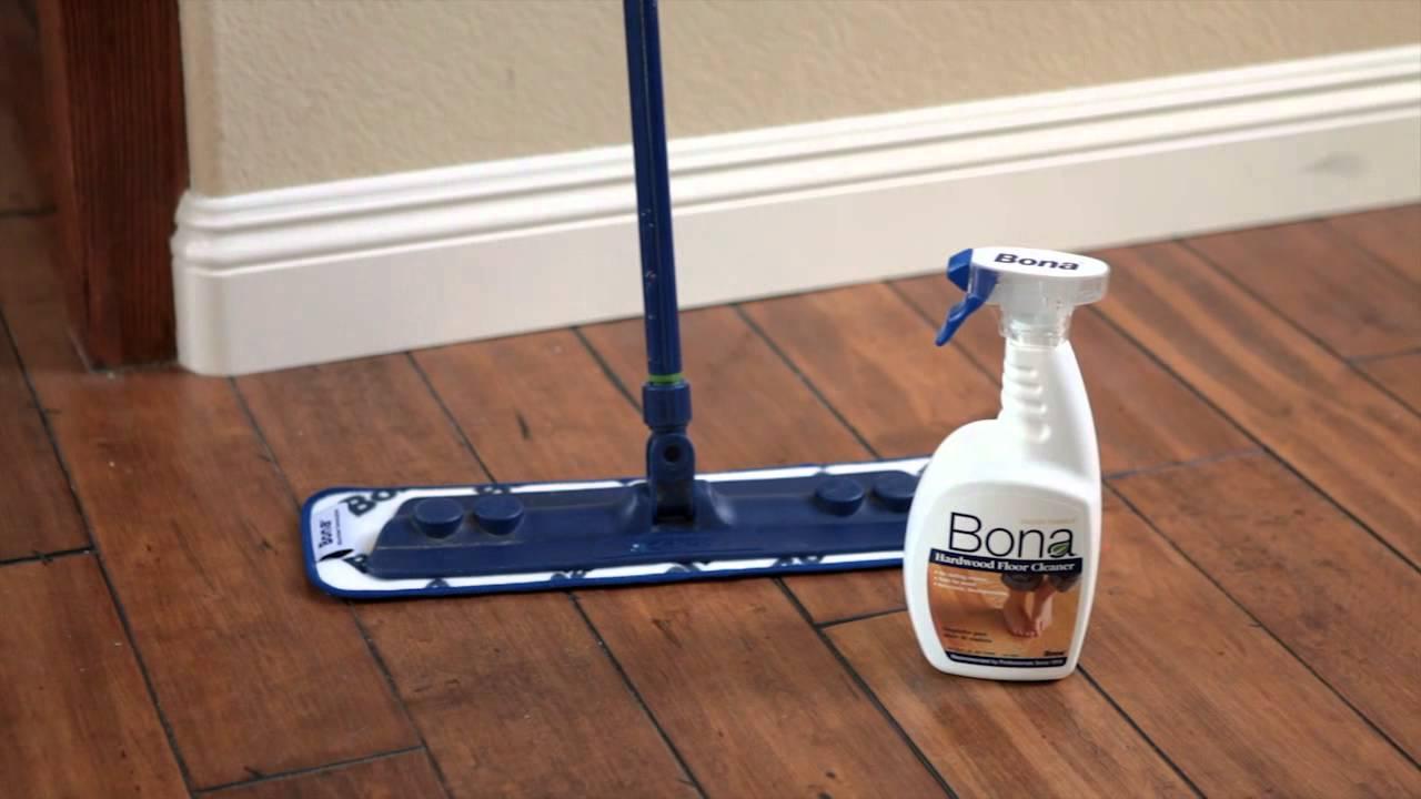 How to clean the hardwood floor
