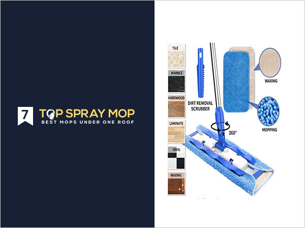 MR.SIGA Professional Microfiber Mop for Hardwood, Laminate, Tile Floor Cleaning
