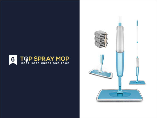 MEXERRIS Microfiber Spray Mop
